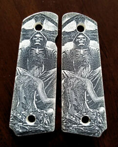 1911-custom-engraved-ivory-scrimshaw-grips-Grim-Reaper-and-Sexy-Lady