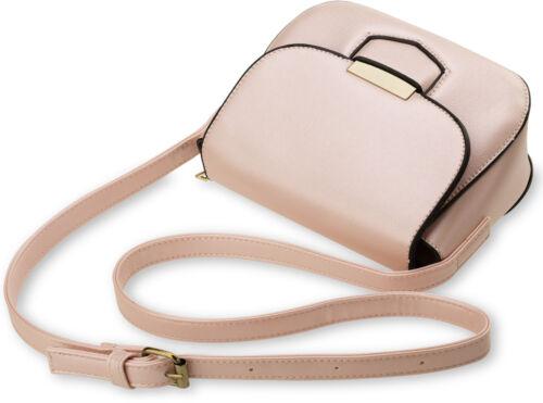 kleine elegante Damentasche Schultertasche Messengertasche steif Perlweiß