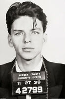 Frank Sinatra-mug Shot 24x36 Poster Musician Icon Italy Jersey Ny Usa Cool