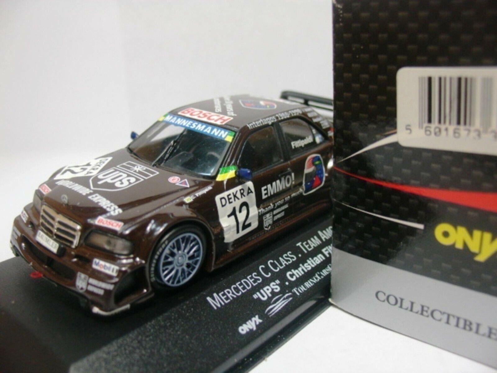 Wow extrêmement rare MERCEDES DTM 1996 C250 Fittipaldi 1 43 Onyx-MINICHAMPS-ITC