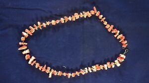Farbsteine Edelsteine Zuversichtlich Purpurschnecke Kette Koralle Unbekannt 60/70er Jahre Vintage S-1519