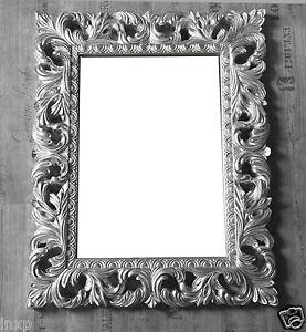 Wandspiegel Silber Antik Barock Repro Shabby Vintage Glamour 100x80