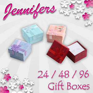 Jewellery-Gift-Boxes-24-48-96-Ring-Earring-Jewelry-Box-Wholesale-Joblot-NEW