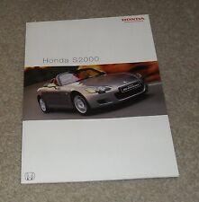 Honda S2000 Brochure 2002 - 2.0 VTEC Roadster