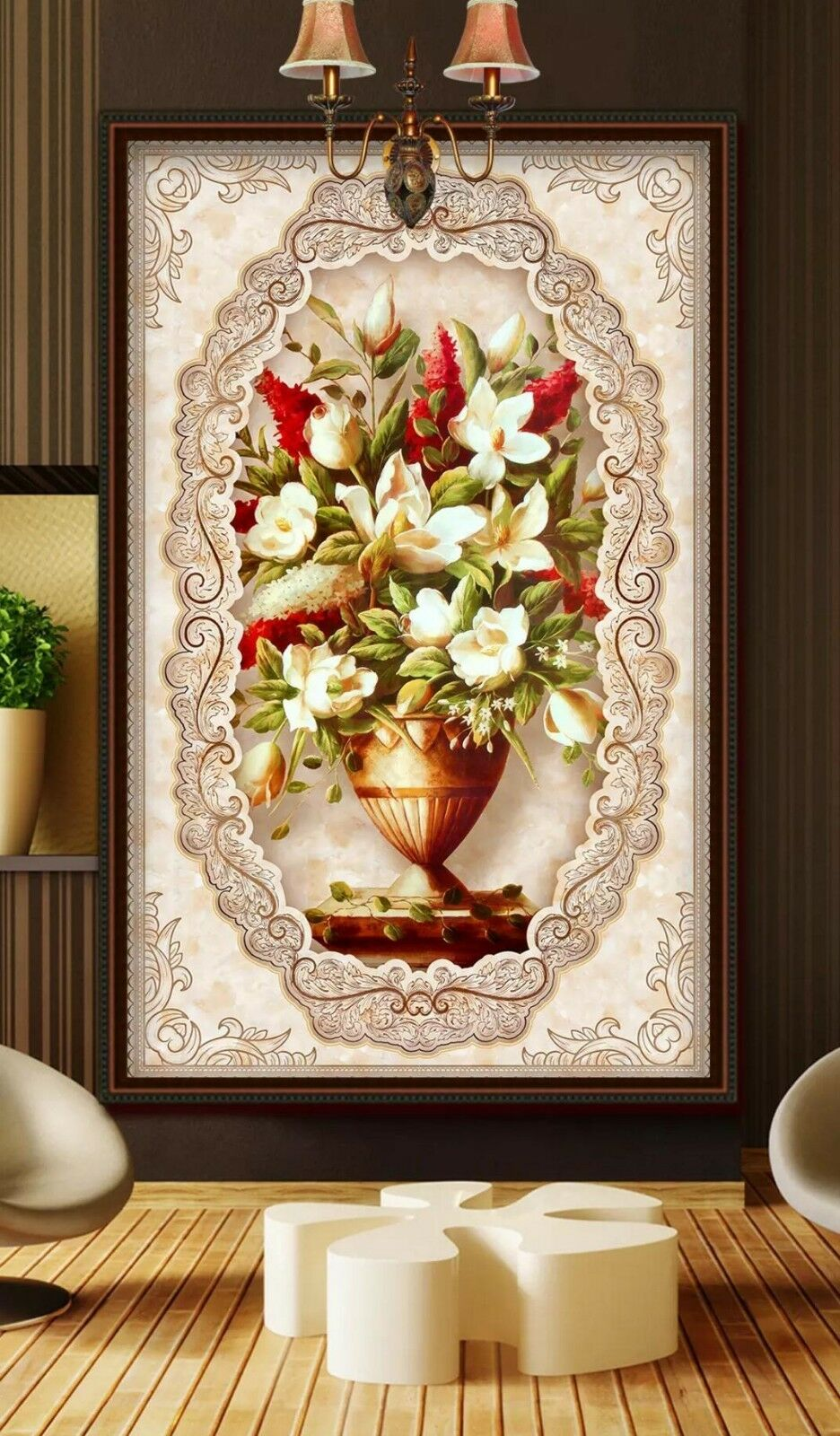 3D White Flower 043 Wall Paper Exclusive MXY Wallpaper Mural Decal Indoor