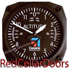 """TRINTEC CESSNA  AVIATION CLOCK 9060C ALTIMETER ALTITUDE 6.5"""" SQ WALL CLOCK NEW"""