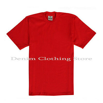 PRO CLUB MEN'S BLANK SOLID HEAVY WEIGHT SHORT SLEEVE T-SHIRT ANY COLOR S - 7XL