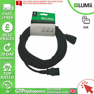 Glorieux Lumii Extension Link Lead - 5 M Mètres-hid Cultiver Réflecteur De Lumière Câble D'extension-afficher Le Titre D'origine Excellent Effet De Coussin