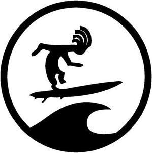 surfer dude circle surfboard skateboard car campervan window sticker ... 75fe218c470