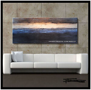 abstract canvas wall art painting large 60 inch original reproduction eloisexxx ebay. Black Bedroom Furniture Sets. Home Design Ideas