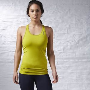 Reebok-Sport-Fit-Camiseta-de-tirantes-Mujer-Camiseta-fitness-camiseta-deportiva