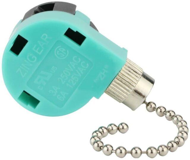 Ceiling Fan Switch 3 Speed 4 Wire Zing Ear Ze