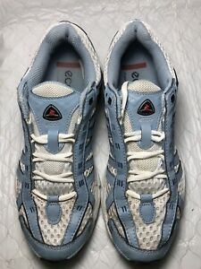 best website new appearance most popular Details about Ecco Women's Receptor RXP 3040 Silver Blue Running Shoes  Size-eu-36 US-5-5.5