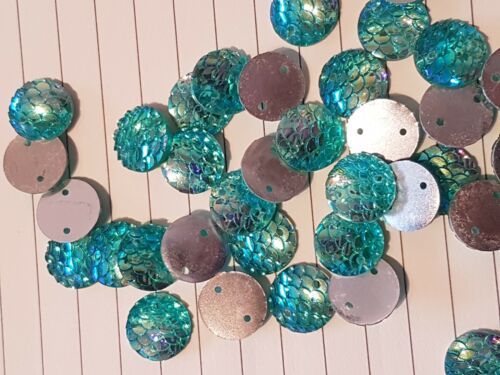 10x sew on stich on 12mm TURQUOISE AB JEWEL GEM CRYSTAL RHINESTONE trim Bead