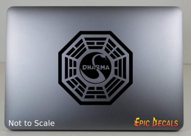 Lost Dharma Initiative LOOKING GLASS Station Decal Sticker Window Car Laptop