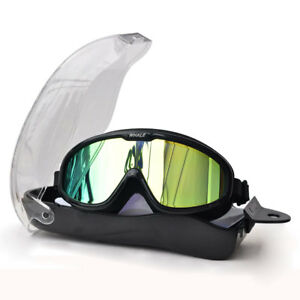 0ac7feee128 Image is loading Whale-Waterproof-Large-Frame-Glasses-Swimming-Goggles-Anti-