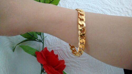 Vente 10mm 25.4cm 24k Chaîne Plaqué or Femme Cheville Hommes Bracelet /&