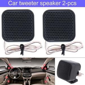 1 Pair 500W 12V Car Square Audio Music Stereo Tweeter 91DB Sound Speaker System
