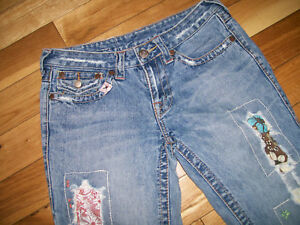 8ad9ad87b Image is loading TRUE-RELIGION-WOODSTOCK-DISTRESSED-PATCHED-DESTROYED-BOOT- CUT-