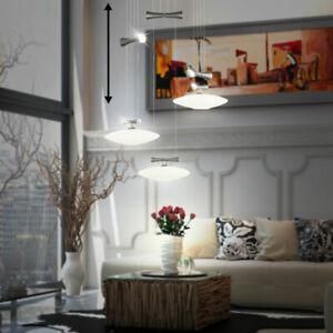 Dettagli su Design Pendolo Appesa Luce Sala da Pranzo Nichel Vetro Tavolo  Cucina Big
