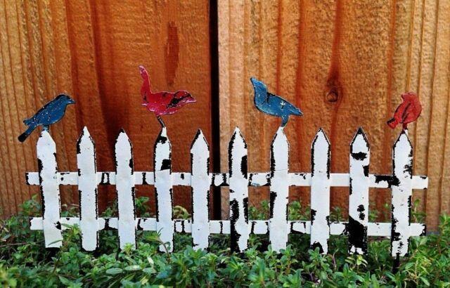 Miniature Dollhouse FAIRY GARDEN Blue Bird Bridge Accessories
