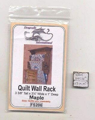Quilt Rack Walnut FS207 dollhouse furniture kit Dragonfly 1//12 scale wood Kit