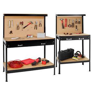 tabli d 39 atelier avec panneau outils et tiroir de rangement universel paroi ebay. Black Bedroom Furniture Sets. Home Design Ideas