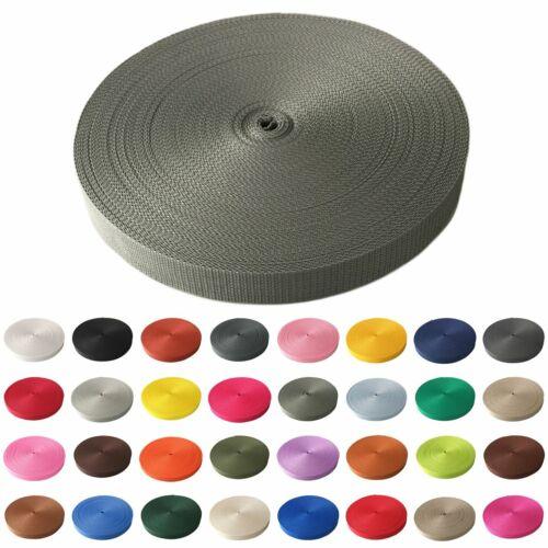 50m Gurtband 25 mm viele Farben Taschenband Trageband Tragegurt Rolladenband