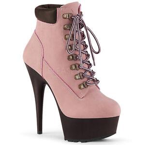 Baby Pink Sneaker Boots High Heels 90s