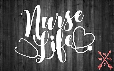 Nurse Life Rn Cna Saying Quote Sticker Decal Laptop Yeti