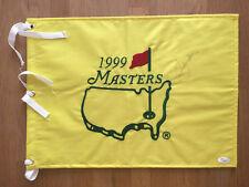 Seve Severiano BALLESTEROS Signed 1999 MASTERS Golf Flag Autograph AFTAL COA JSA