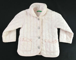 738f043d33b4 Baby Girl - BENETTON - Light Pink - Padded Quilted Jacket - Age 6-9 ...