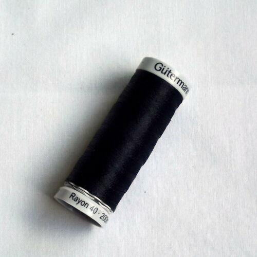 TC16 Gutermann Sulky Rayon 40 Machine Embroidery Black Shades 200m spools