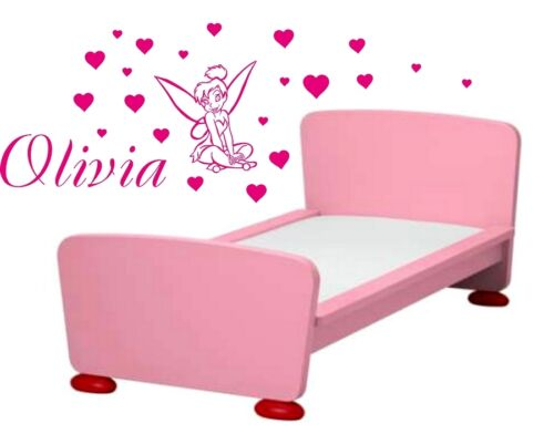 Tinker Bell Wall Stickers GIRLS NAME Bedroom Art Decal Personalised Name Stikers