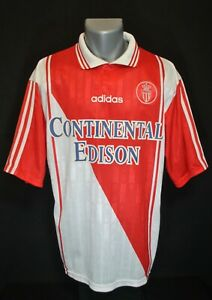AS MONACO VINTAGE SHIRT - ADIDAS HOME JERSEY - MAILLOT MAGLIA 1997-98 SIZE L