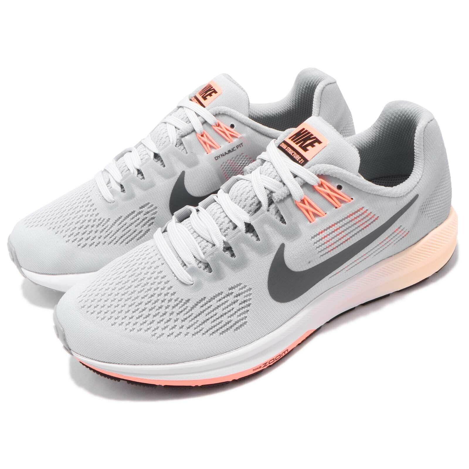Nike Mujeres Air Zoom estructura 21 gris Lobo Lobo Lobo Mujeres Zapatos Tenis Para Correr 904701-008 99a67a
