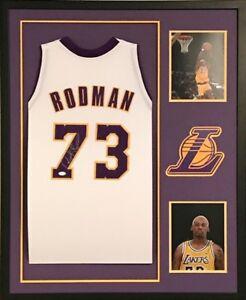 Dennis Rodman Signed Los Angeles Lakers Custom Jersey Framed ...
