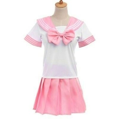 Sexy Japanese School Girl students Sailor Lingerie Uniform Cosplay Outfit Dress