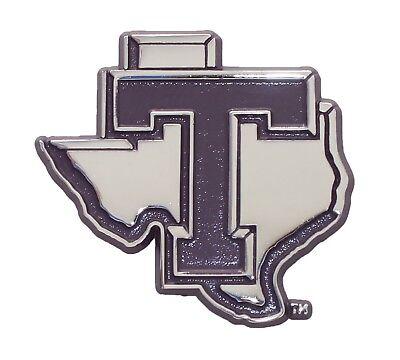 AMG Auto Emblems Tarleton State Texans Metal Emblem on Black Metal Hitch Cover
