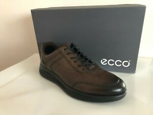 2afc9cc4d8f2 NEW ECCO AQUET LACE UP MEN S SNEAKER SHOES LEATHER COCOA BROWN