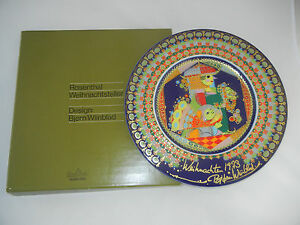 Rosenthal-Christmas-Plate-1973-Autographed-by-The-Artist-Meine-Pos-1973-1