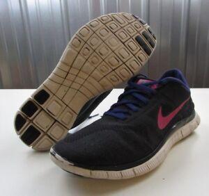finest selection 6fc23 b7d28 Image is loading NICE-Nike-Free-4-0-V2-Black-Purple-