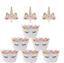 Indexbild 3 - 24 Einhorn Unicorn Topper Cupcake Kinder Geburtstag Muffin Kuchen Torte