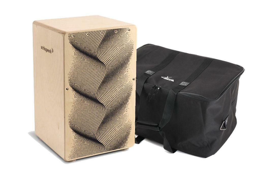 SCHLAGWERK CP 120 CAJON X-ONE ILLUSION TROMMELKISTE PERCUSSION SNARE SET TASCHE