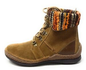 Propet-Women-039-s-Dayna-Lace-Up-Ankle-Boots-Tan-Brown-Leather-Size-9-5-Wide