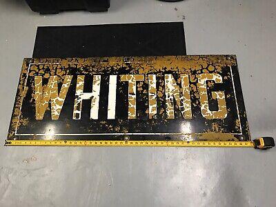 "Vintage /& Rare Porcelain Crane Advertising Sign ""Whiting Corporation Crane"""