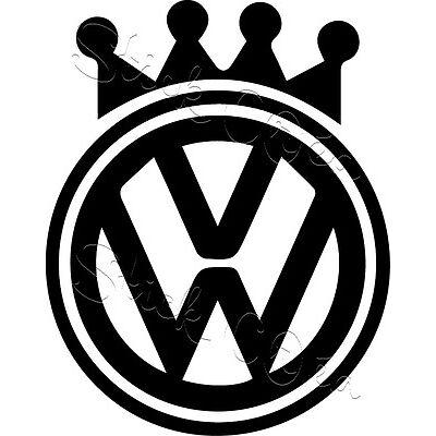 Autocollant sticker Volkswagen vw german look ref: vw59