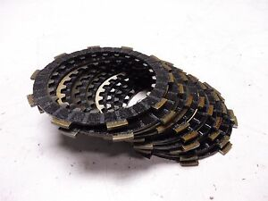 1989 Yamaha FZR600 YM216B. Engine clutch basket friction plates discs