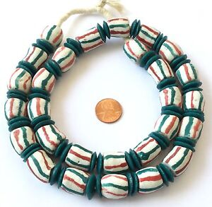 Ghana-African-Mixed-handmade-Recycled-glass-African-trade-beads
