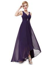 Ever Pretty Dress Bridesmaid Dresses Tail Evening Party Chiffon Purple 9983